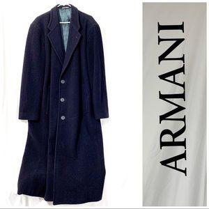 Giorgio Armani- 💯authenic💯Wool Dark Navy  Trench